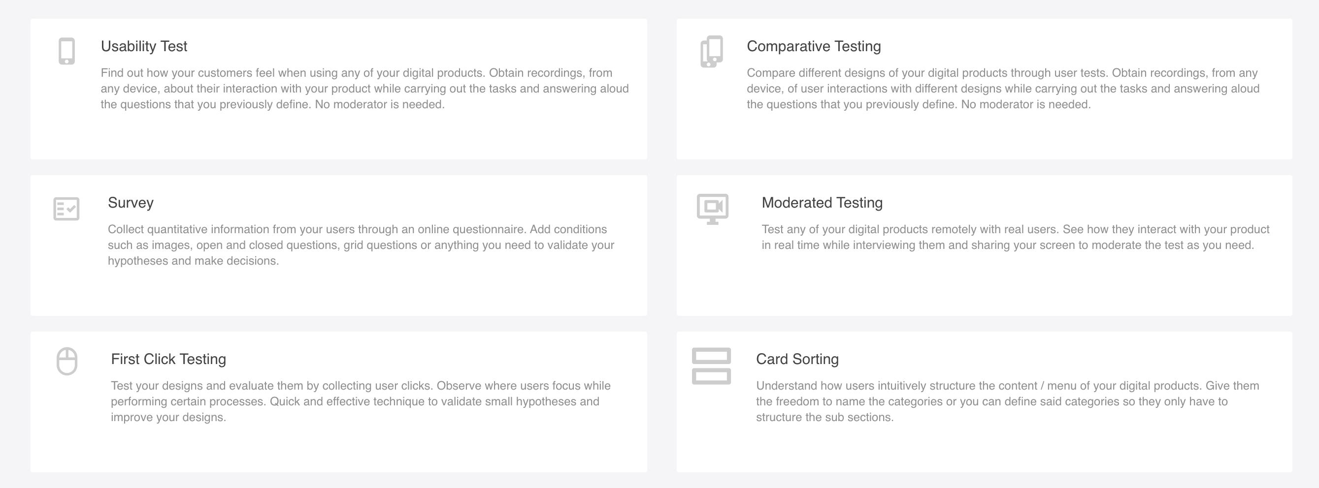 Test type - Checkealos
